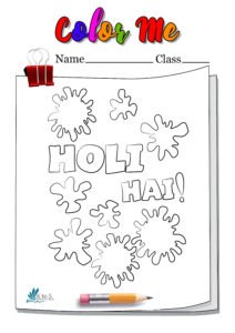 Happy Holi Coloring Page