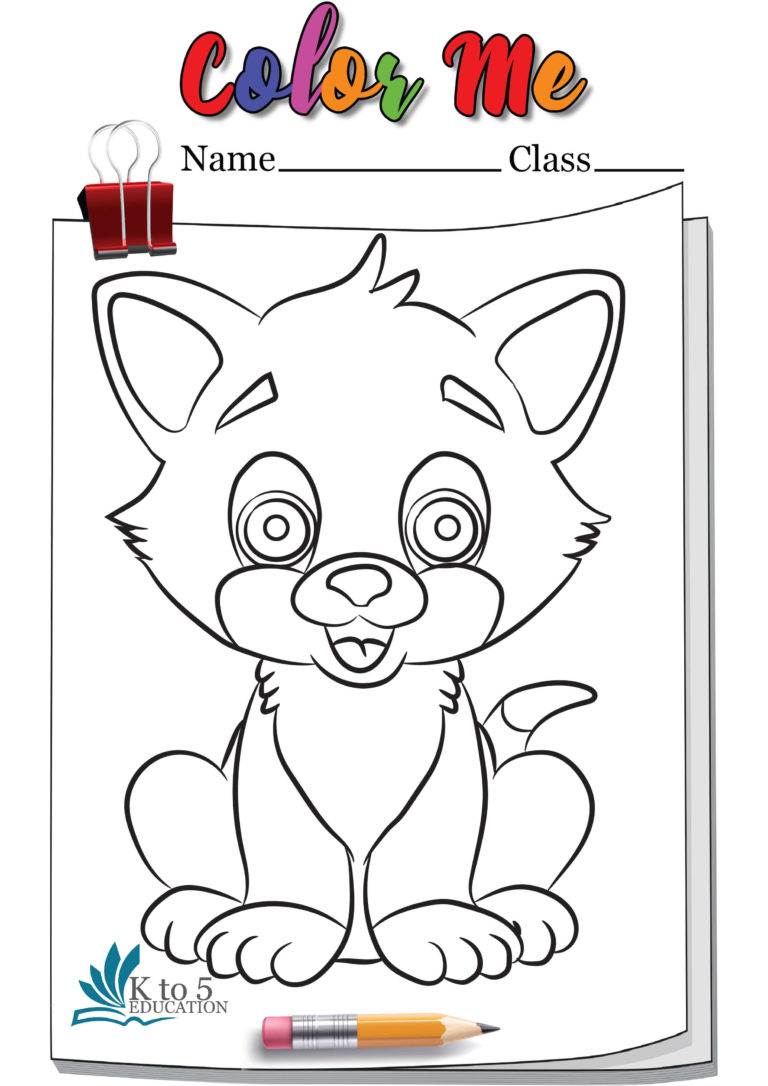 Cat wants to play coloring page worksheet