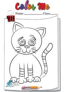 Cut Cat coloring page worksheet
