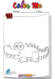Weird looking Crocodile coloring page worksheet