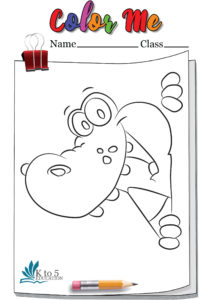 Playful Crocodile coloring page worksheet