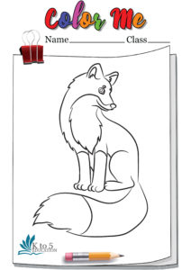 Beautiful Fox coloring page worksheet