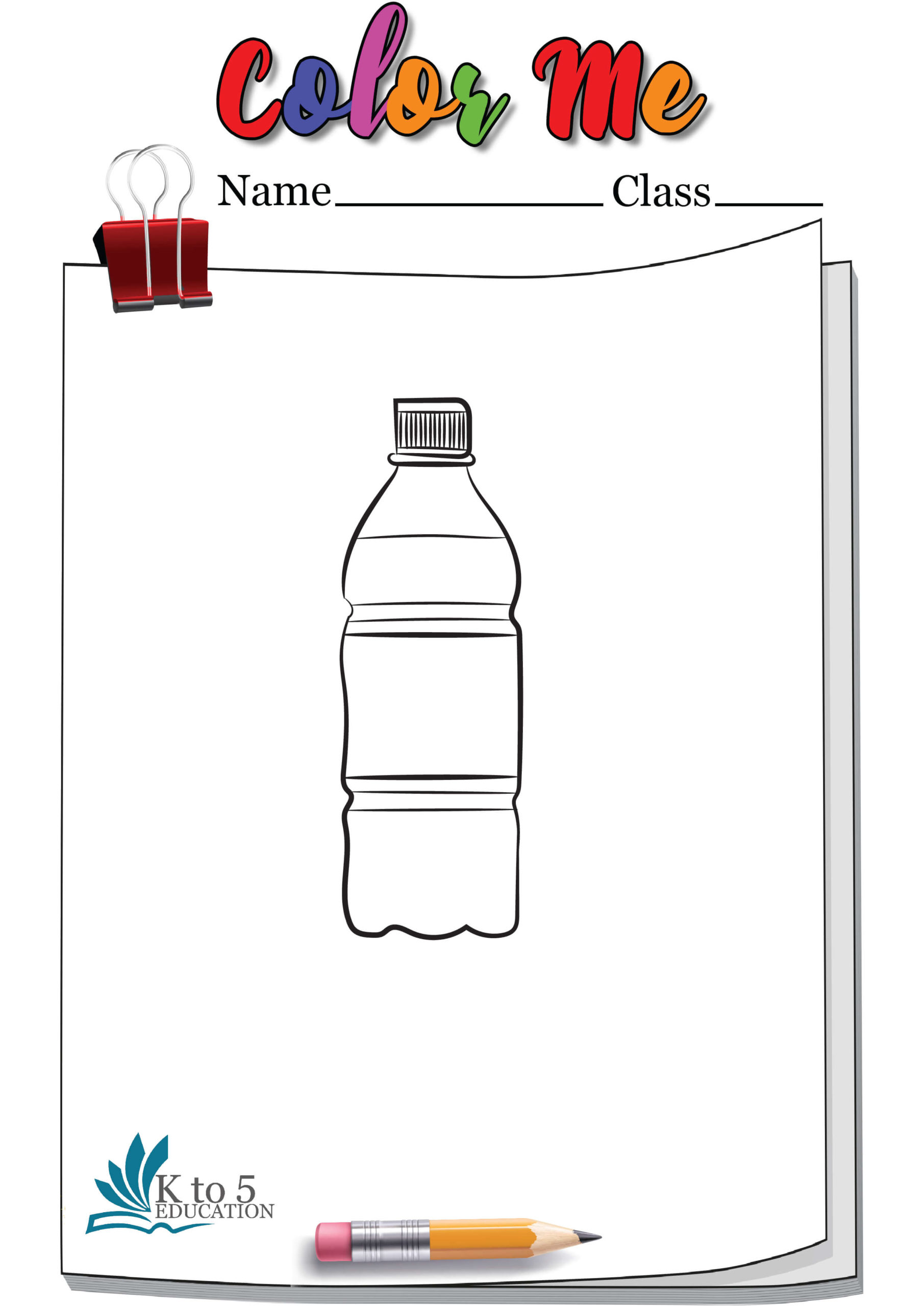 Bottle Coloring page worksheet 4